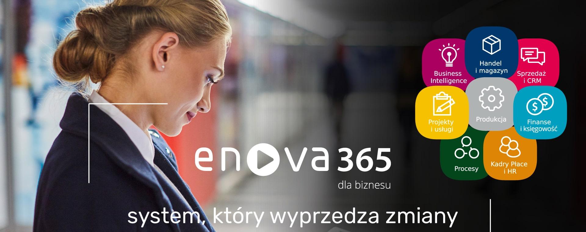 banner enova365 system, który wyprzedza zmiany